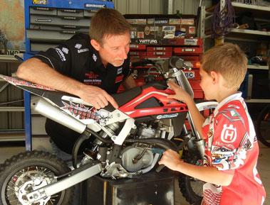 Junior Bike Riders Motorcycle Maintenance